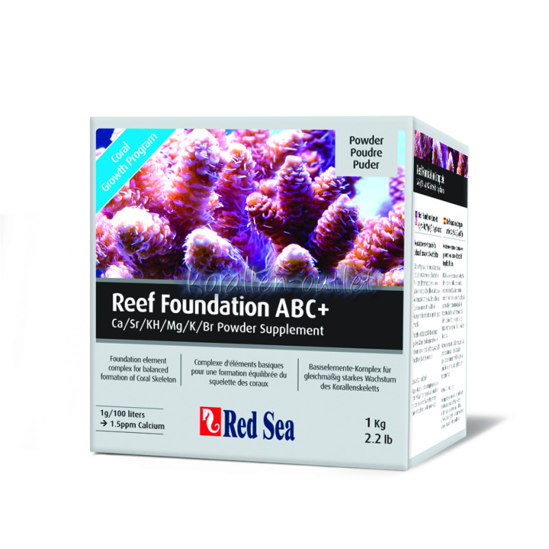 Red Sea Reef Foundation complete ABC+ Puder, 1000 g